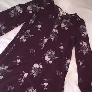 purple floral dress by mimi chica